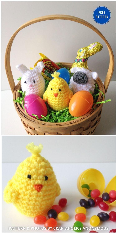 Crochet Easter Egg Covers - 12 Easy Easter Egg Warmer Crochet Patterns