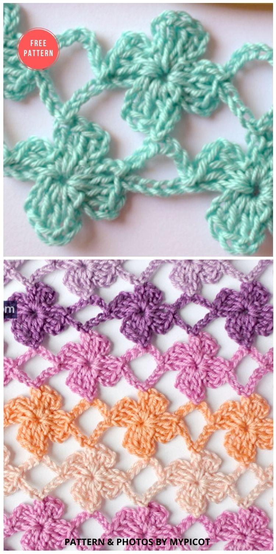 Crochet Flower Stitch - 12 Beautiful Crochet Flower Stitches For Blankets (1)