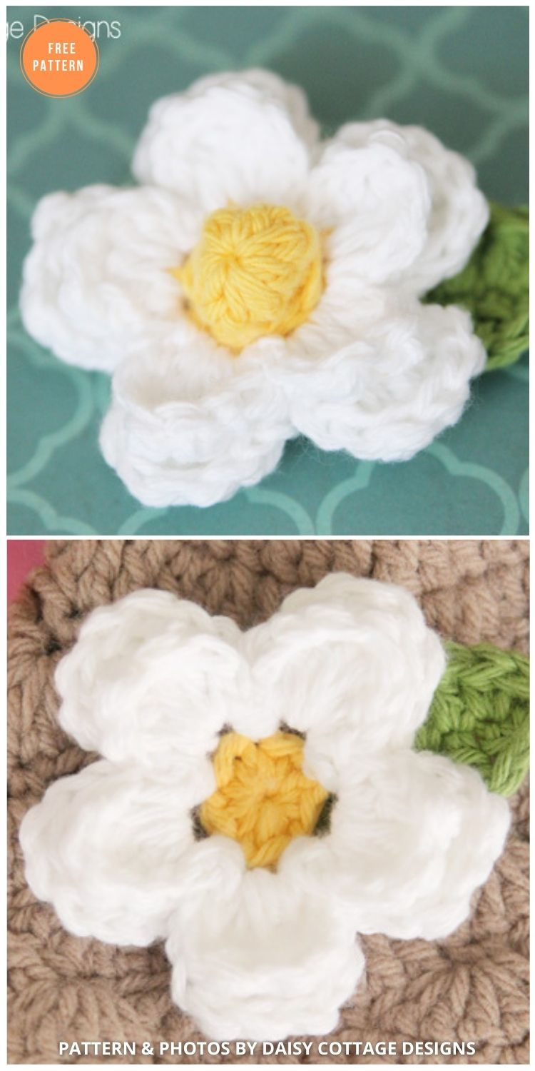 Daisy Crochet Flower Pattern - 12 Beautiful Spring Flower Crochet Patterns