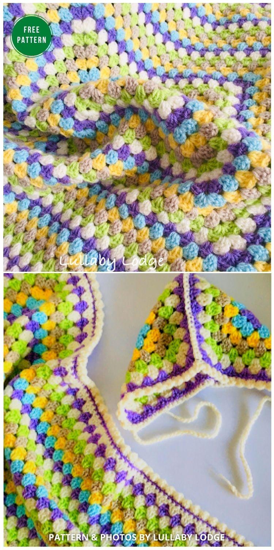 Easter Baby Blanket & Bonnet - 12 Gorgeous Free Easter Blanket Crochet Patterns