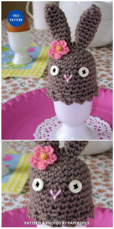 Easter Bunny Egg Cosy - 12 Easy Easter Egg Warmer Crochet Patterns