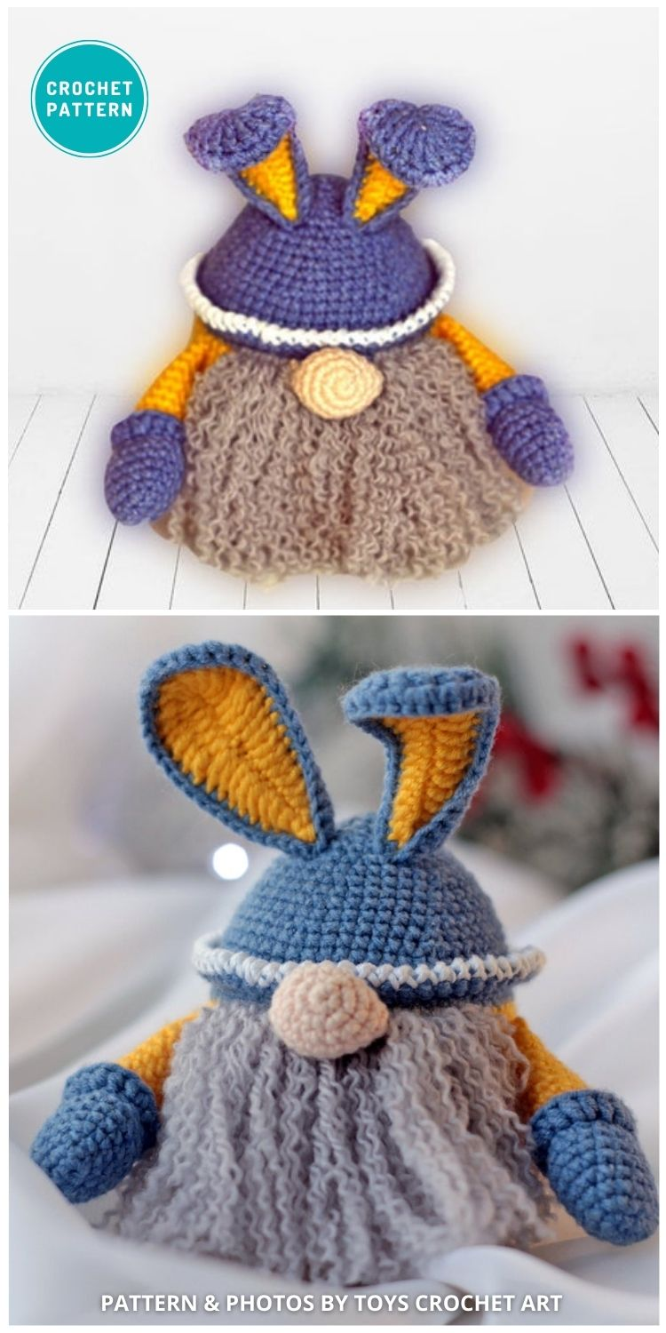 _Easter Decor Easter Bunny Gnome - 8 Gorgeous Spring Easter Gnomes Crochet Patterns