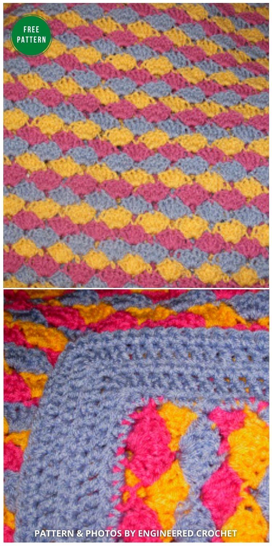 Easter Egg Blanket - 12 Gorgeous Free Easter Blanket Crochet Patterns