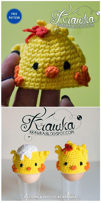 Easter Egg - Chicks - 12 Easy Easter Egg Warmer Crochet Patterns