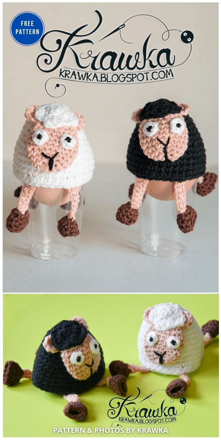 Easter Egg Decoration - Sheep - 12 Easy Easter Egg Warmer Crochet Patterns