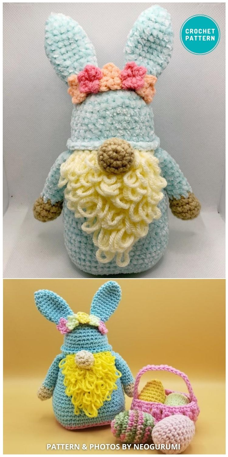 Easter Gnome -Valentine Amigurumi - 8 Gorgeous Spring Easter Gnomes Crochet Patterns