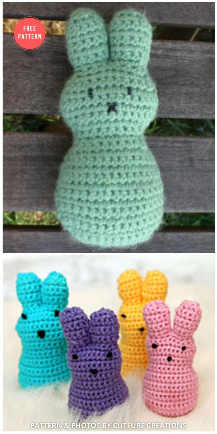 Easter Peeps - 8 Free Crochet Easter Peep Patterns