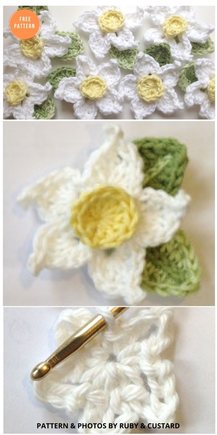 Easy Crochet Daffodil Pattern - 12 Beautiful Spring Flower Crochet Patterns