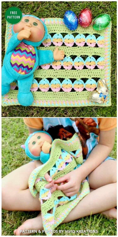 Egg Hunt Blanket Pattern - 12 Gorgeous Free Easter Blanket Crochet Patterns