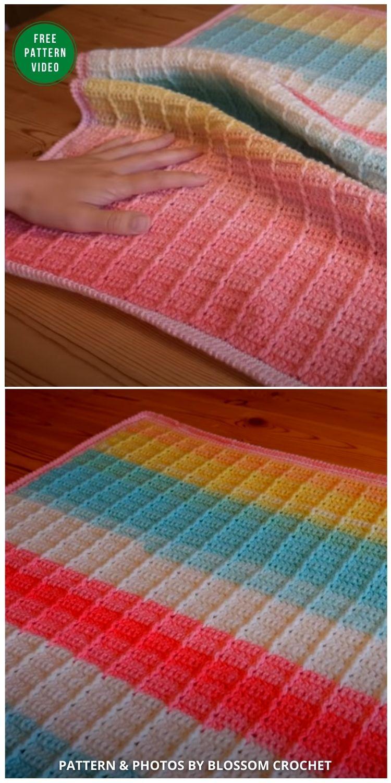 Ester Crochet Blanket - EASY 2 Row Repeat! - 12 Gorgeous Free Easter Blanket Crochet Patterns