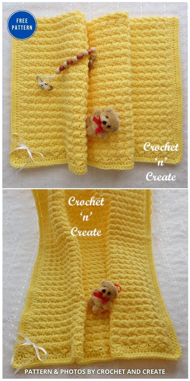 Forever Warm Crochet Baby Blanket - 15 Free Yellow Baby Blanket Crochet Patterns