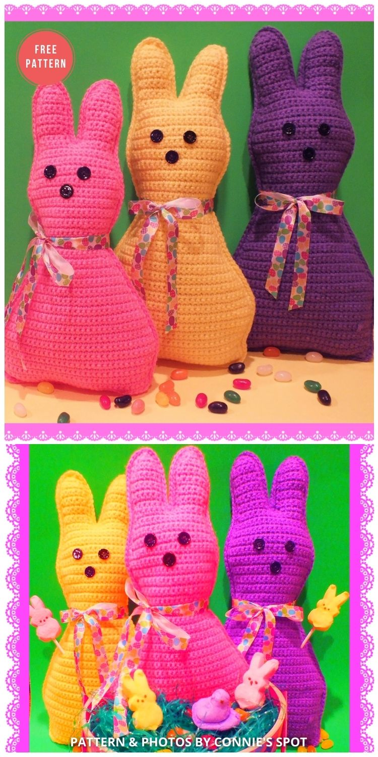Free Easter Pillow Peep Inspired Doll Pattern - 8 Free Crochet Easter Peep Patterns