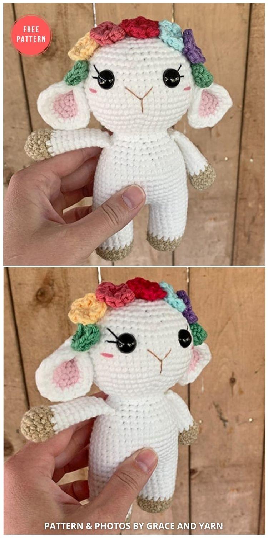 Free Mini Crochet Lamb Pattern - 13 Free Easter Spring Lamb Crochet Patterns