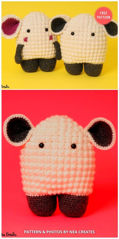 Hugo The Lamb - 13 Free Easter Spring Lamb Crochet Patterns