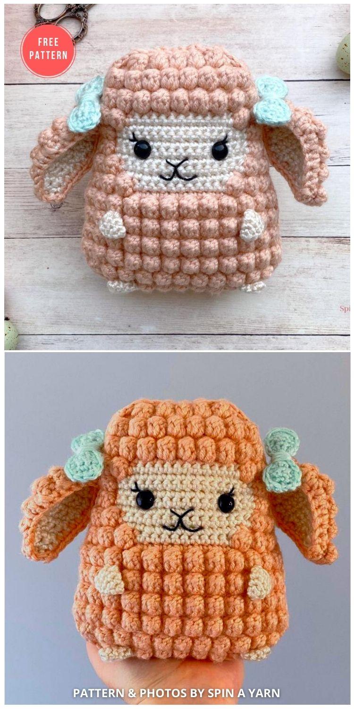 Lamb Amigurumi - 13 Free Easter Spring Lamb Crochet Patterns