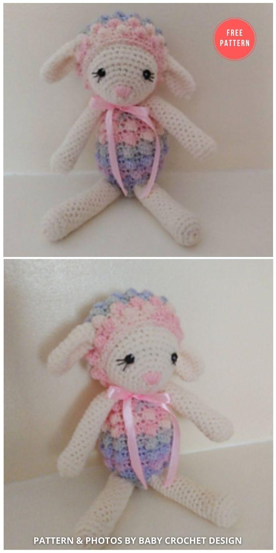Lambkins Easter Lamb - 13 Free Easter Spring Lamb Crochet Patterns