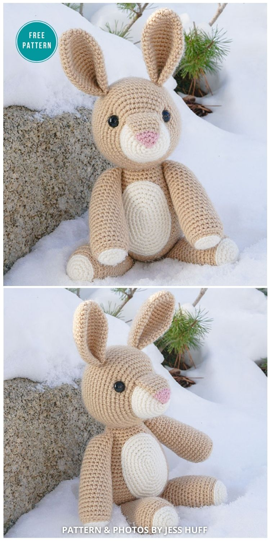 Rose The Rabbit Free Amigurumi Pattern - 16 Free Amigurumi Bunny Toy Crochet Patterns