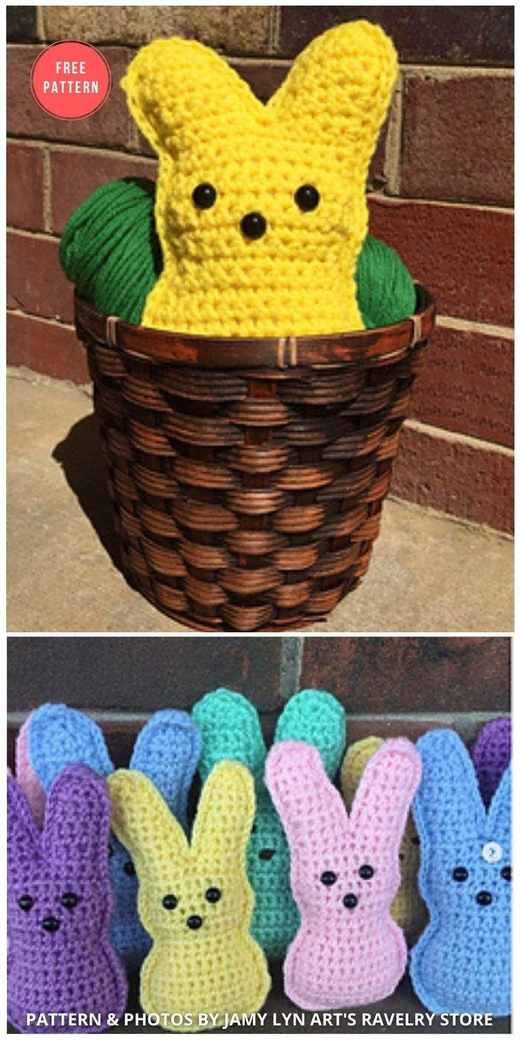 Small Bunny Peep - 8 Free Crochet Easter Peep Patterns