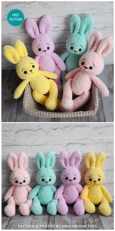 Soft Bunny Amigurumi - 16 Free Amigurumi Bunny Toy Crochet Patterns