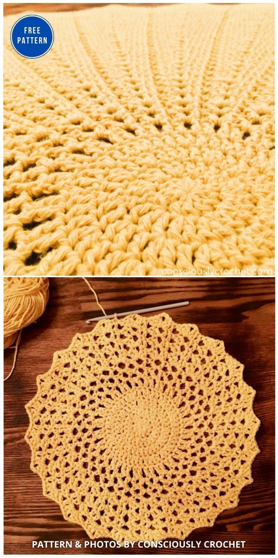 Solstice – Crochet Blanket Free Pattern - 15 Free Yellow Baby Blanket Crochet Patterns