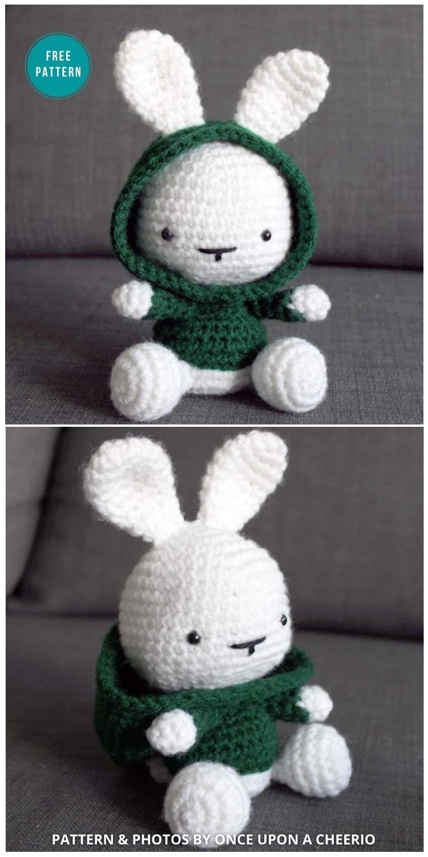 Some Bunny In The Hood Crochet Pattern - 16 Free Amigurumi Bunny Toy Crochet Patterns