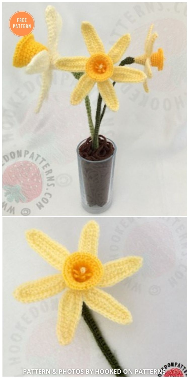 Spring Daffodils Free Crochet Pattern - 12 Beautiful Spring Flower Crochet Patterns