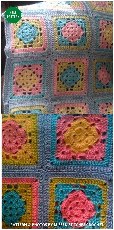 Spring Fling Crochet Blanket - 12 Gorgeous Free Easter Blanket Crochet Patterns