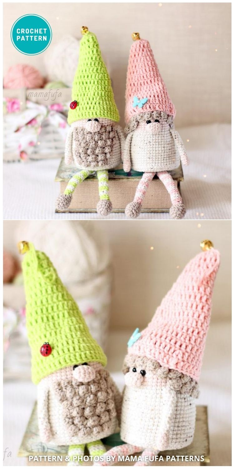 Spring Gnomes Amigurumi - 8 Gorgeous Spring Easter Gnomes Crochet Patterns