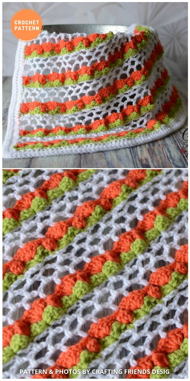 _Spring Tulip Blanket - 10 Unique Spring Flower Blankets Crochet Patterns
