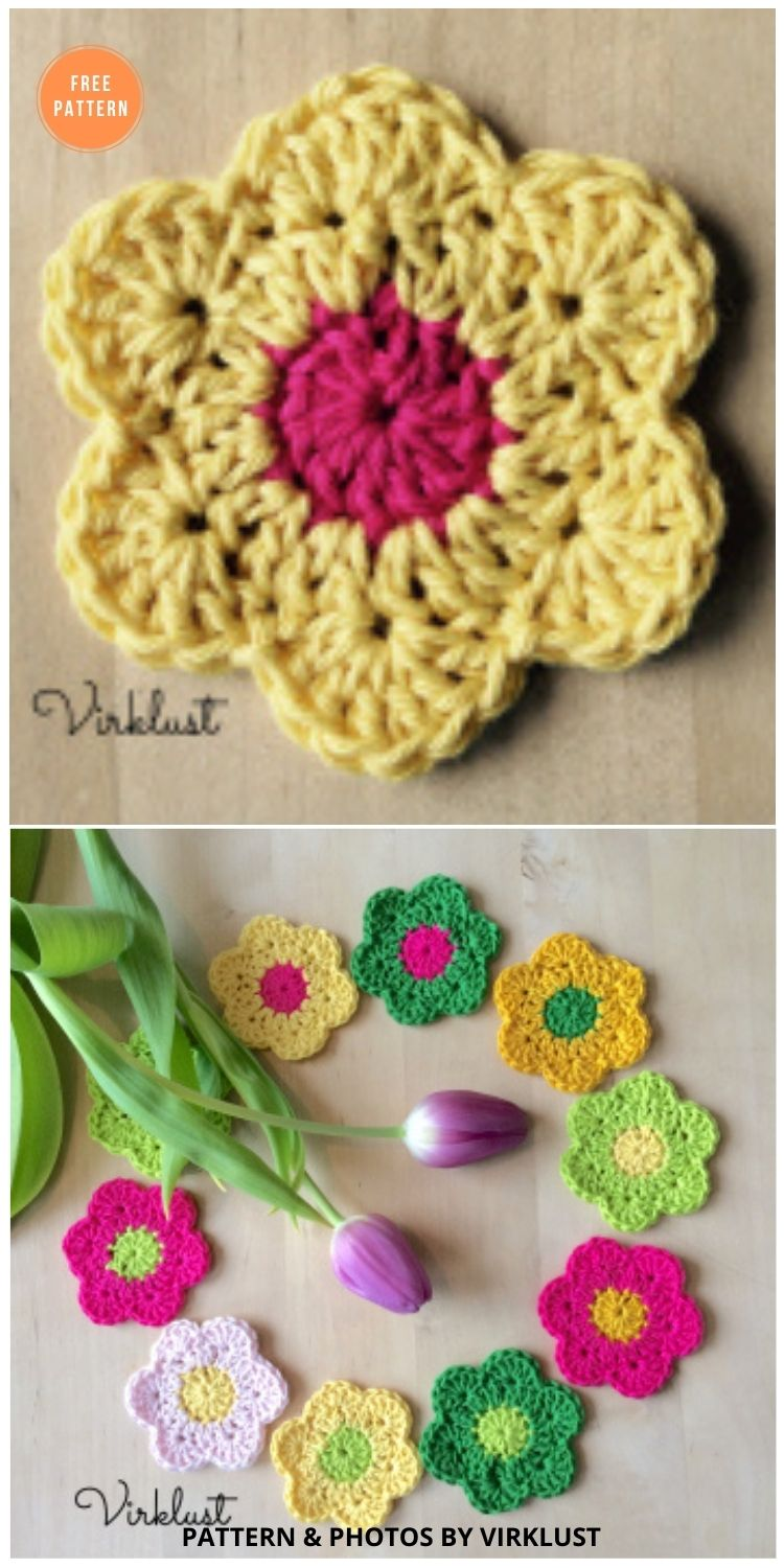Spring flowers - 12 Beautiful Spring Flower Crochet Patterns