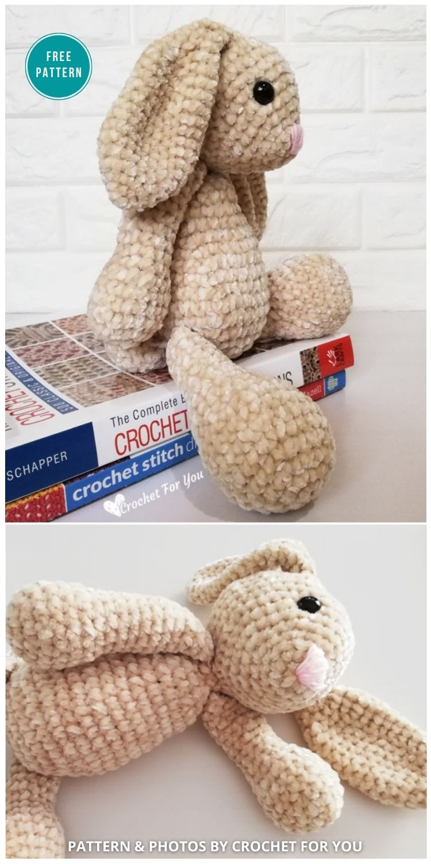 Velvet Bunny Amigurumi - 16 Free Amigurumi Bunny Toy Crochet Patterns