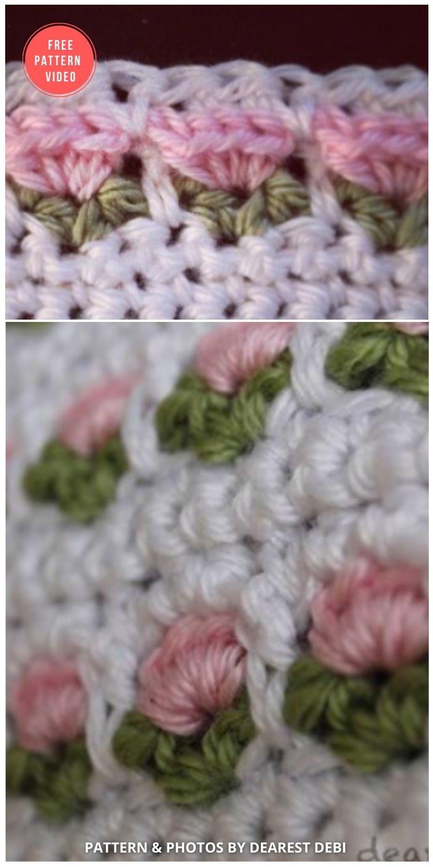 Window Flower Stitch - 12 Beautiful Crochet Flower Stitches For Blankets