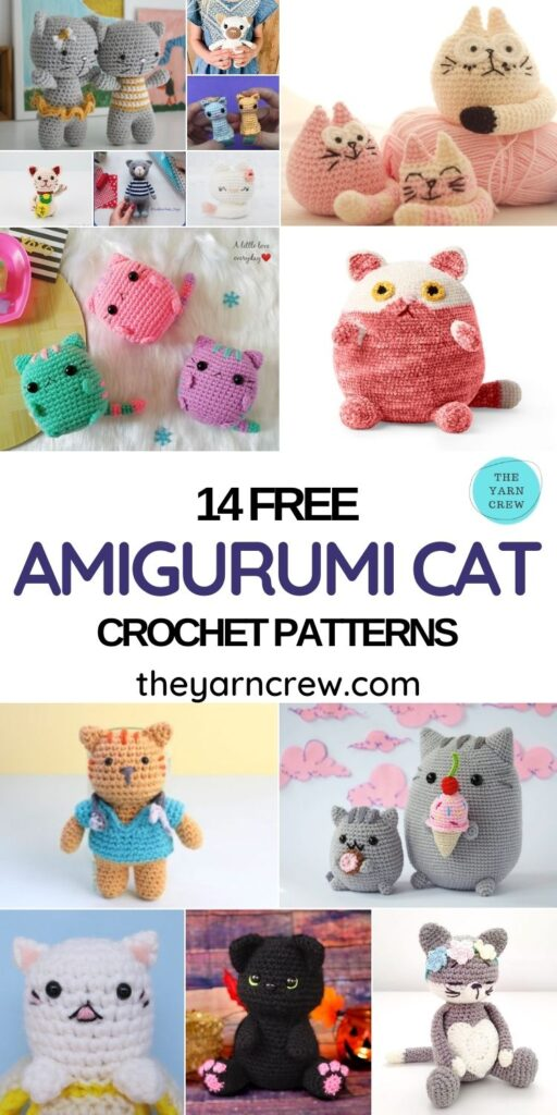 14 Free Amigurumi Cat Crochet Patterns - PIN1