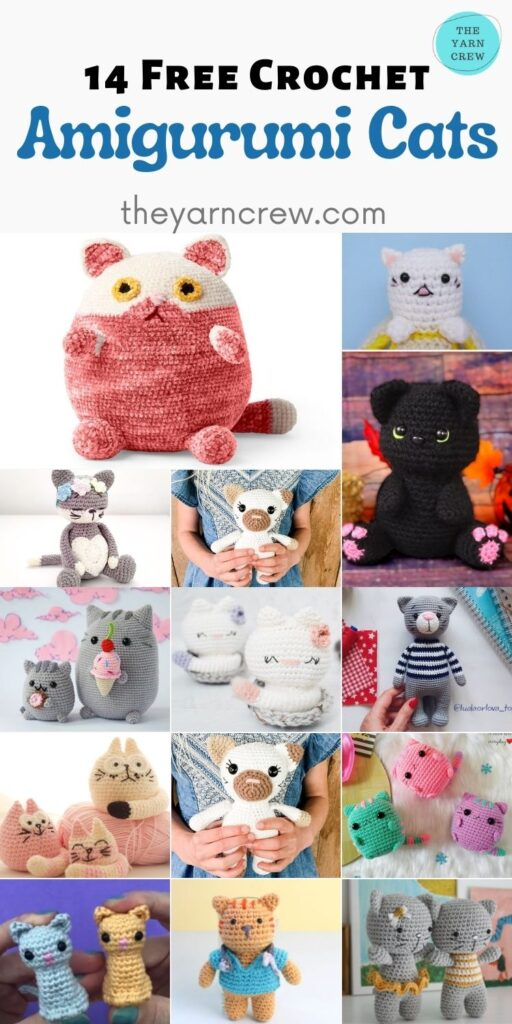14 Free Crochet Amigurumi Cats - PIN2