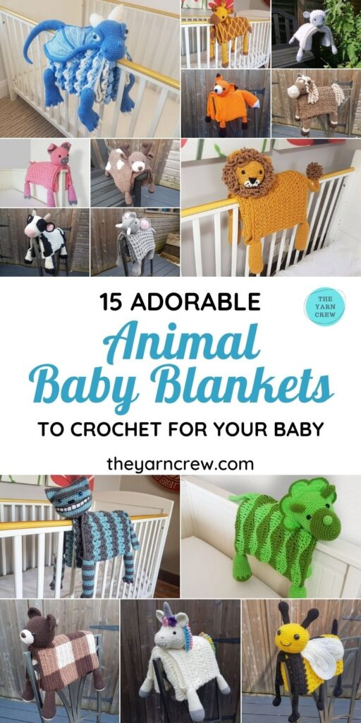 15 Adorable Animal Baby Blankets To Crochet For Your Baby - PIN1