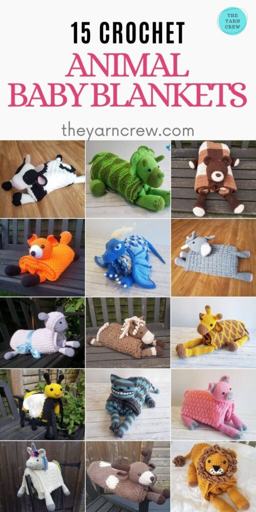 15 Crochet Animal Baby Blankets - PIN2