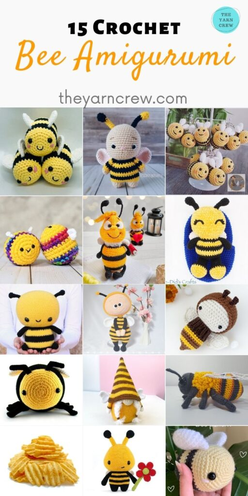 15 Crochet Bee Amigurumi - PIN2