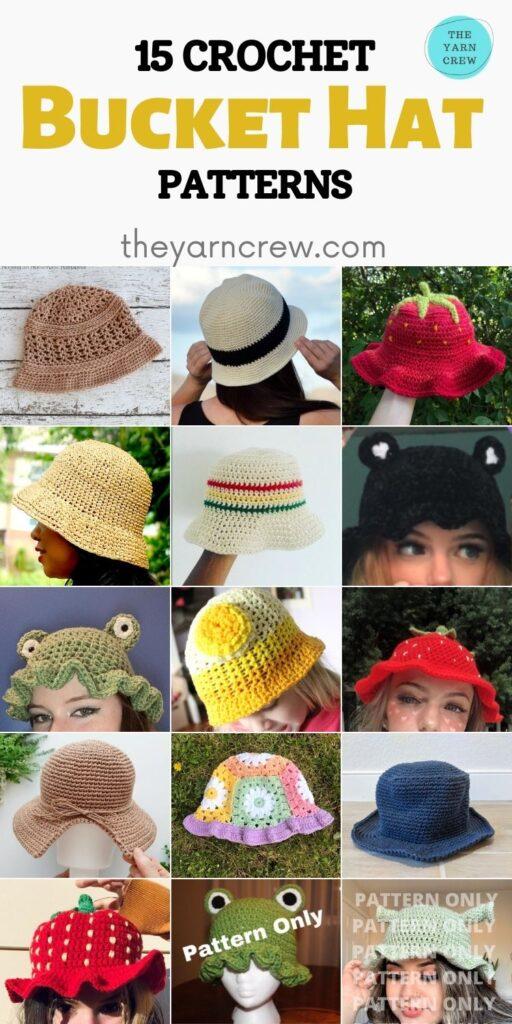 15 Crochet Bucket Hat Patterns - PIN2