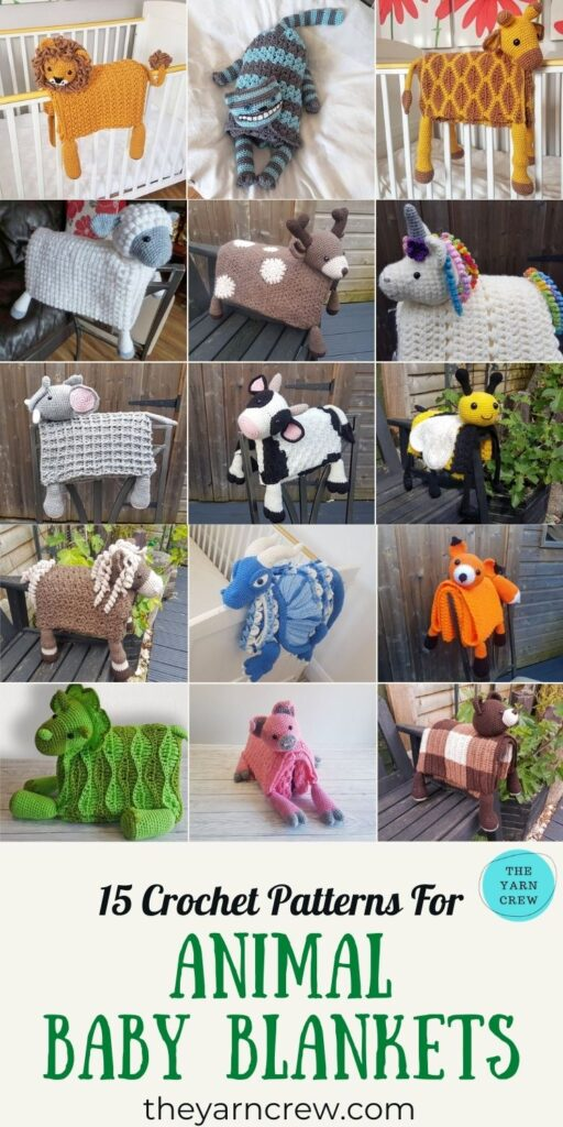 15 Crochet Patterns For Animal Baby Blankets - PIN3