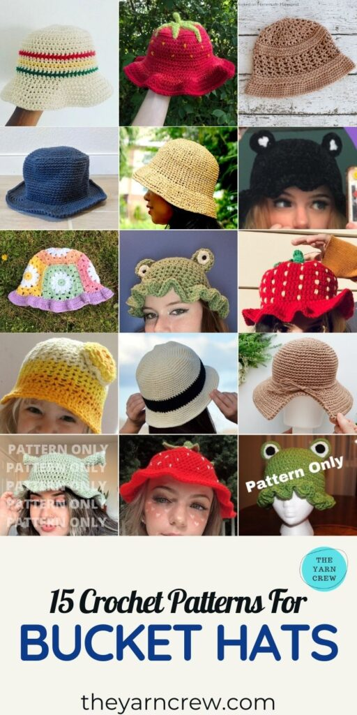 15 Crochet Patterns For Bucket Hats - PIN3