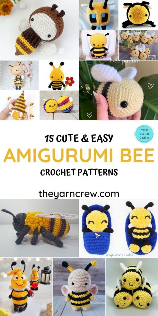 15 Cute & Easy Amigurumi Bee Crochet Patterns - PIN1
