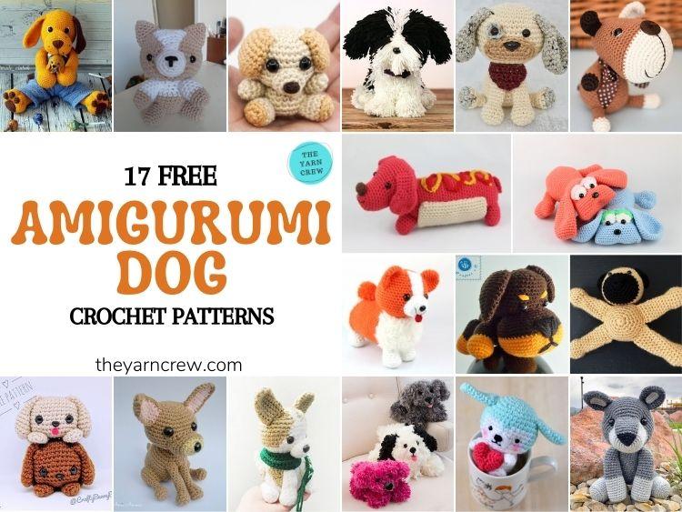 17 Free Amigurumi Dog Crochet Patterns - FB POSTER