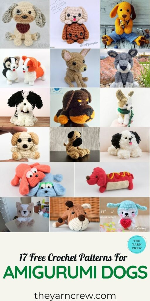 17 Free Crochet Patterns For Amigurumi Dogs - PINTEREST 3