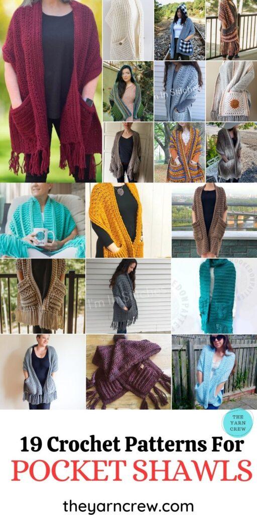 19 Crochet Patterns For Pocket Shawls - PIN3