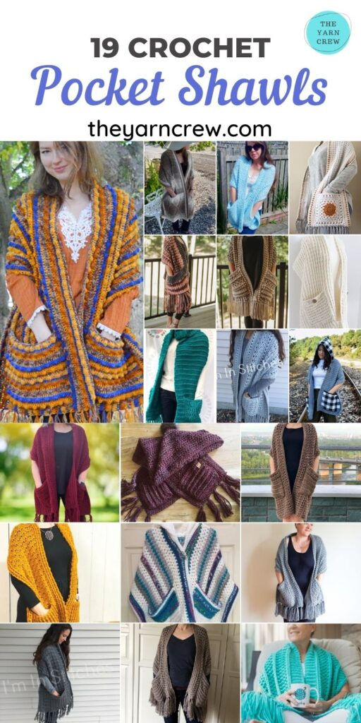 19 Crochet Pocket Shawls - PIN2