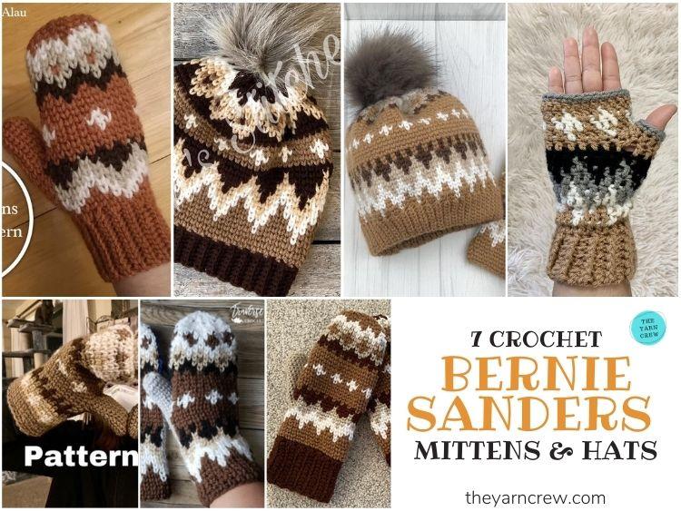 7 Bernie Sanders Crochet Mittens & Hats - FB POSTER