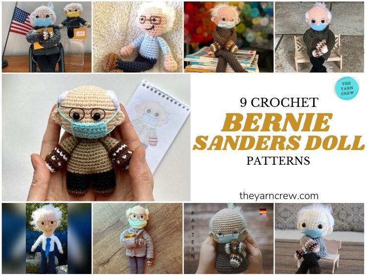 9 Bernie Sanders Crochet Doll Patterns - FB POSTER