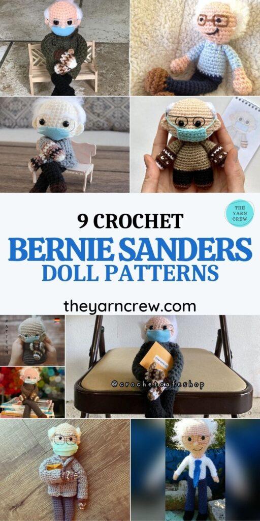 9 Bernie Sanders Crochet Doll Patterns - PIN1