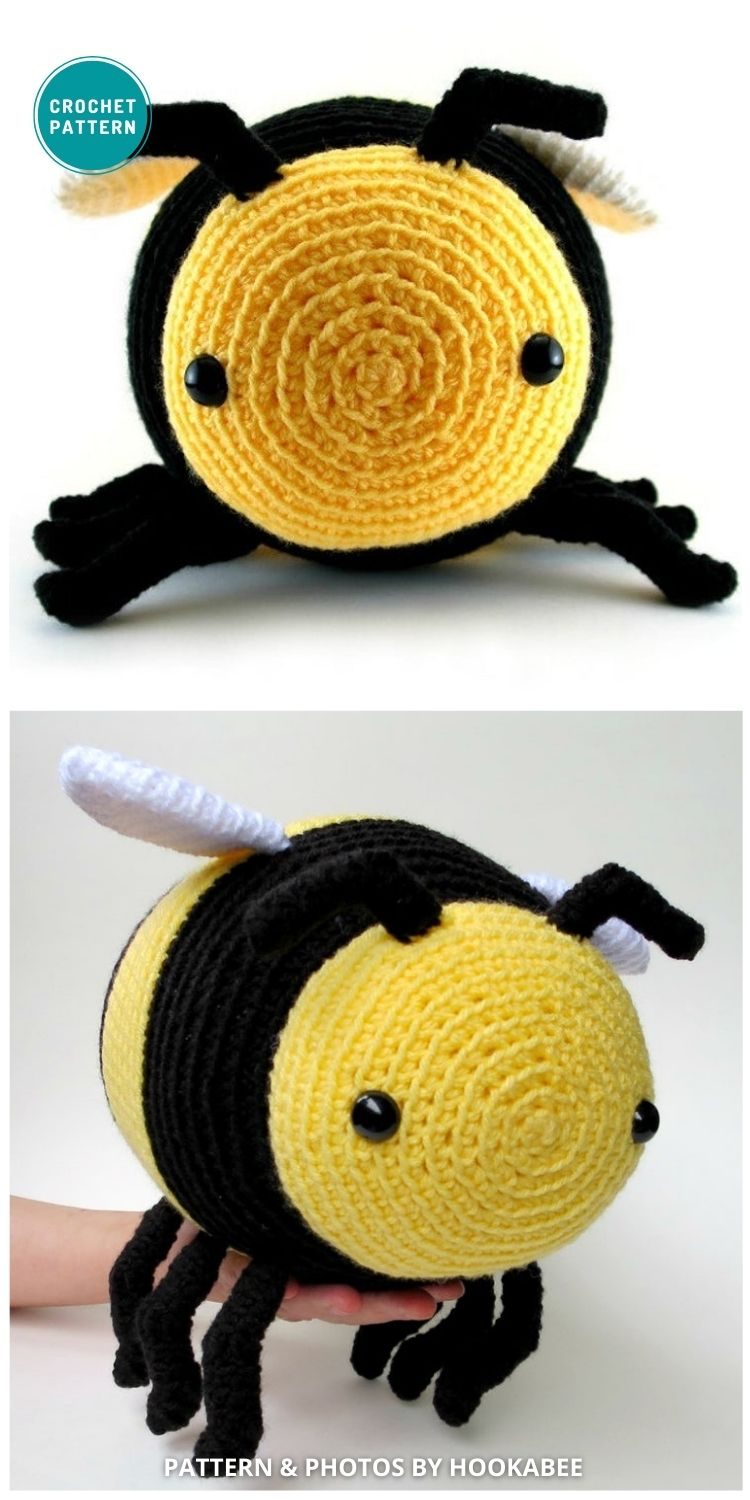Amigurumi Bee - 15 Cute & Easy Amigurumi Bee Crochet Patterns (1)