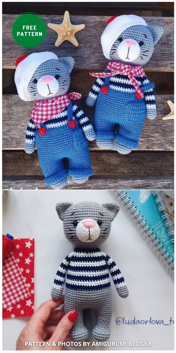 Amigurumi Cat - 14 Free Amigurumi Cat Crochet Patterns